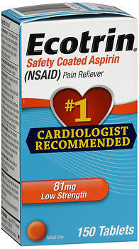 Ecotrin 81 mg Low Strength Safety Coated Aspirin (NSAID) - 150 Tablets